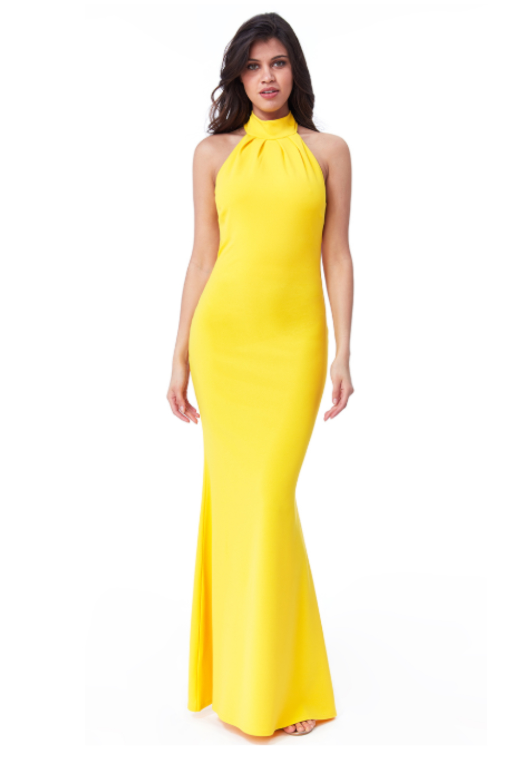 City Goddess  High Neck Gown - Front Cropped Image