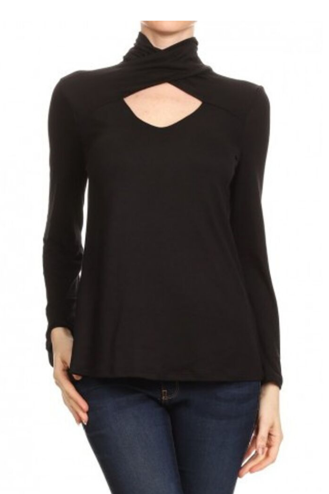 Ariella USA HIGH NECK KEYHOLE TOP - Front Cropped Image