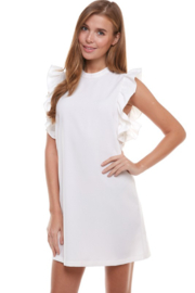 TCEC High Neck Ruffle Dress - Product Mini Image