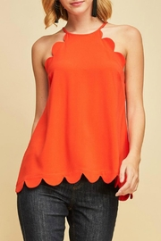 Entro High-Neck Scalloped Top - Product Mini Image