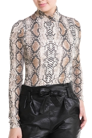 Renamed Clothing High-Neck Snake Bodysuit - Front cropped