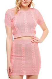 Hot & Delicious High-Neck Sweater Skirt-Set - Back cropped