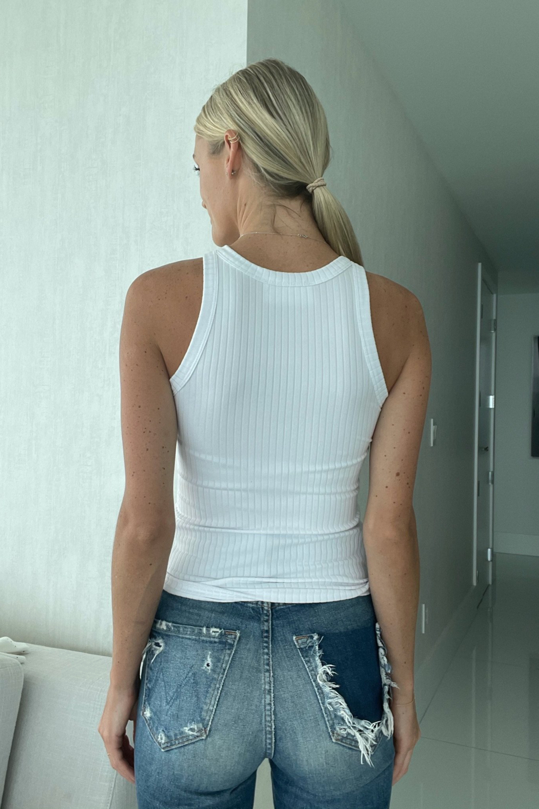 Six Fifty High Neck Tank - Front Full Image