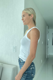 Six Fifty High Neck Tank - Side cropped