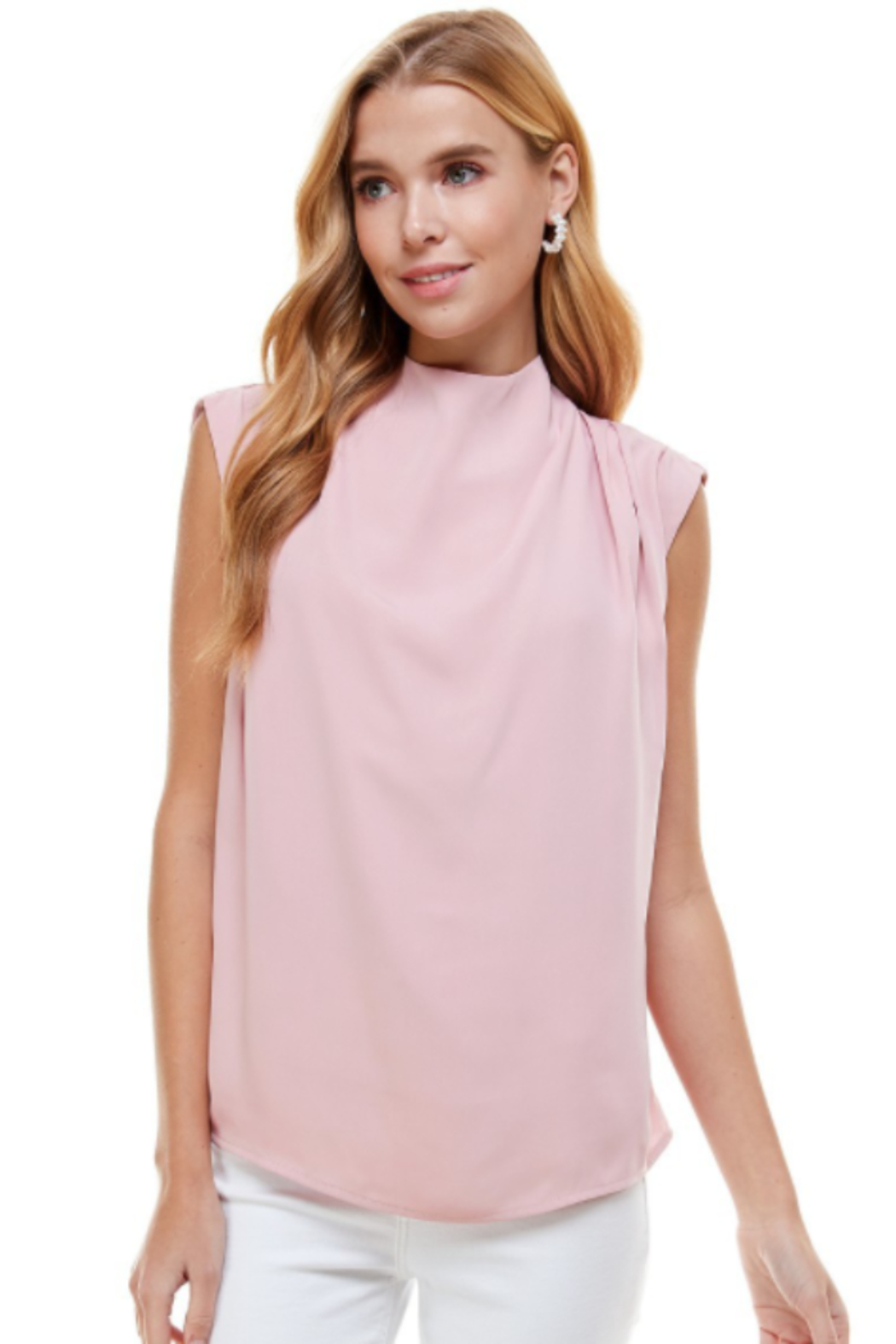 TCEC High Neck Top - Side Cropped Image