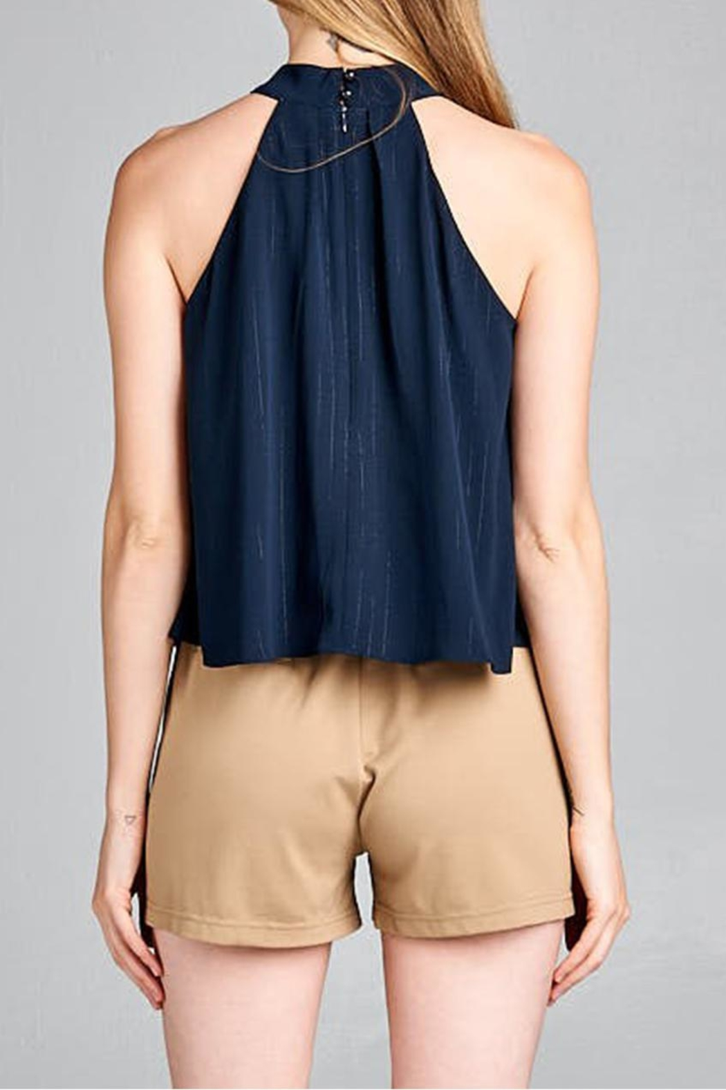 jane plus one High Neck Top - Front Full Image