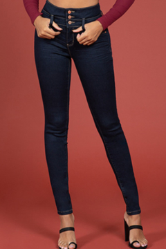 YMI High Rise 3 Button Jean - Product List Image