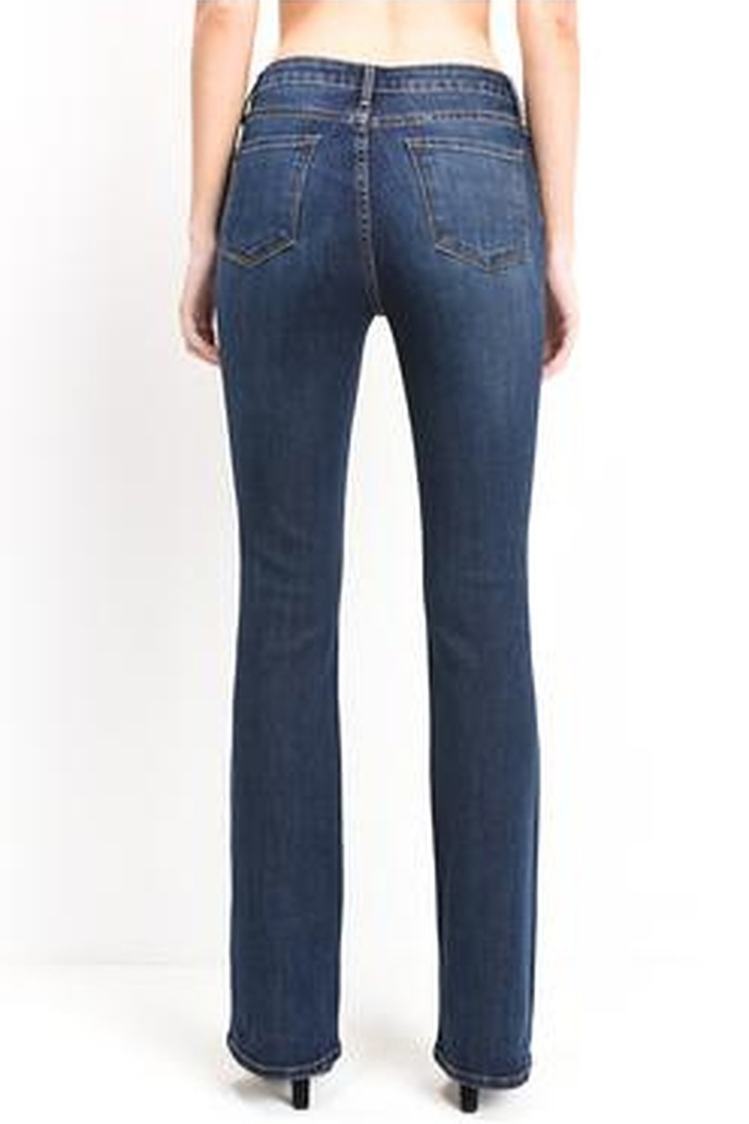 just black High Rise Boot Cut Jeans - Side Cropped Image