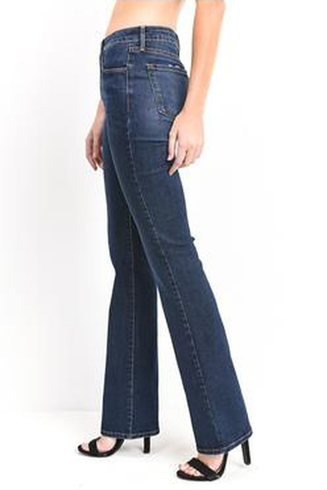 just black High Rise Boot Cut Jeans - Front Full Image