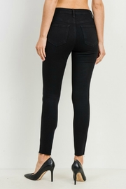 just black HIGH RISE BUTTON DOWN SKINNY - Side cropped