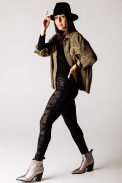 Tractr Something Fierce Front Panel Camo Leggings - Product List Image