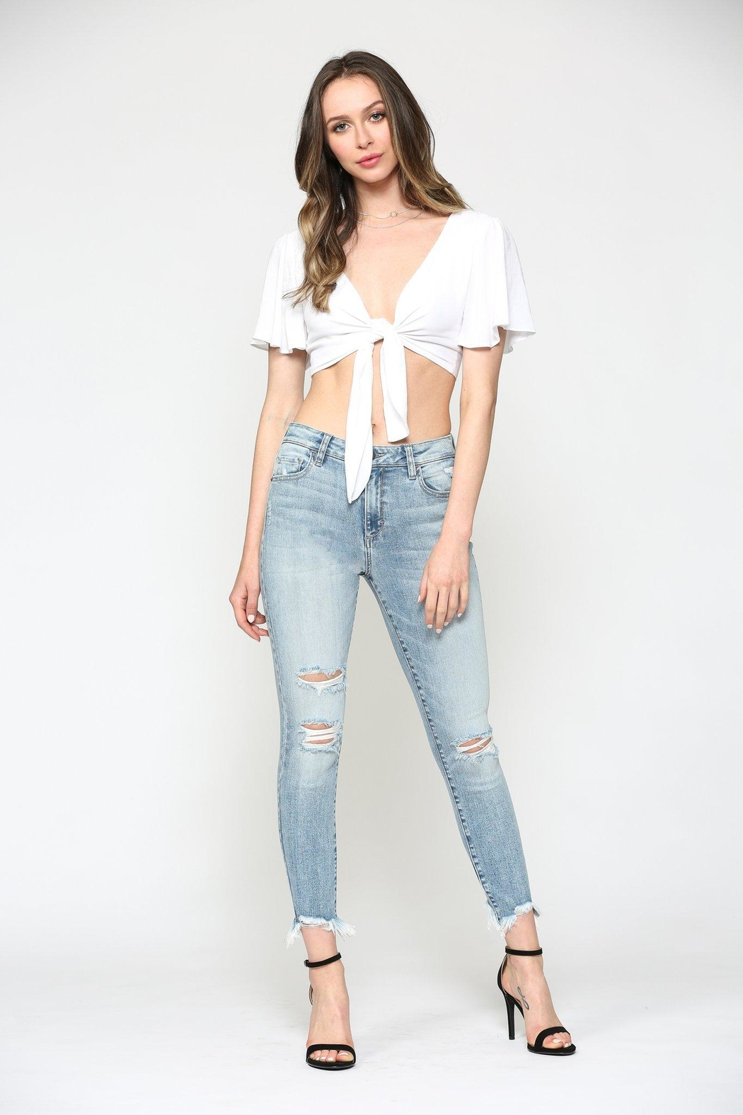 Hidden Jeans Taylor High Rise-Skinny - Front Full Image