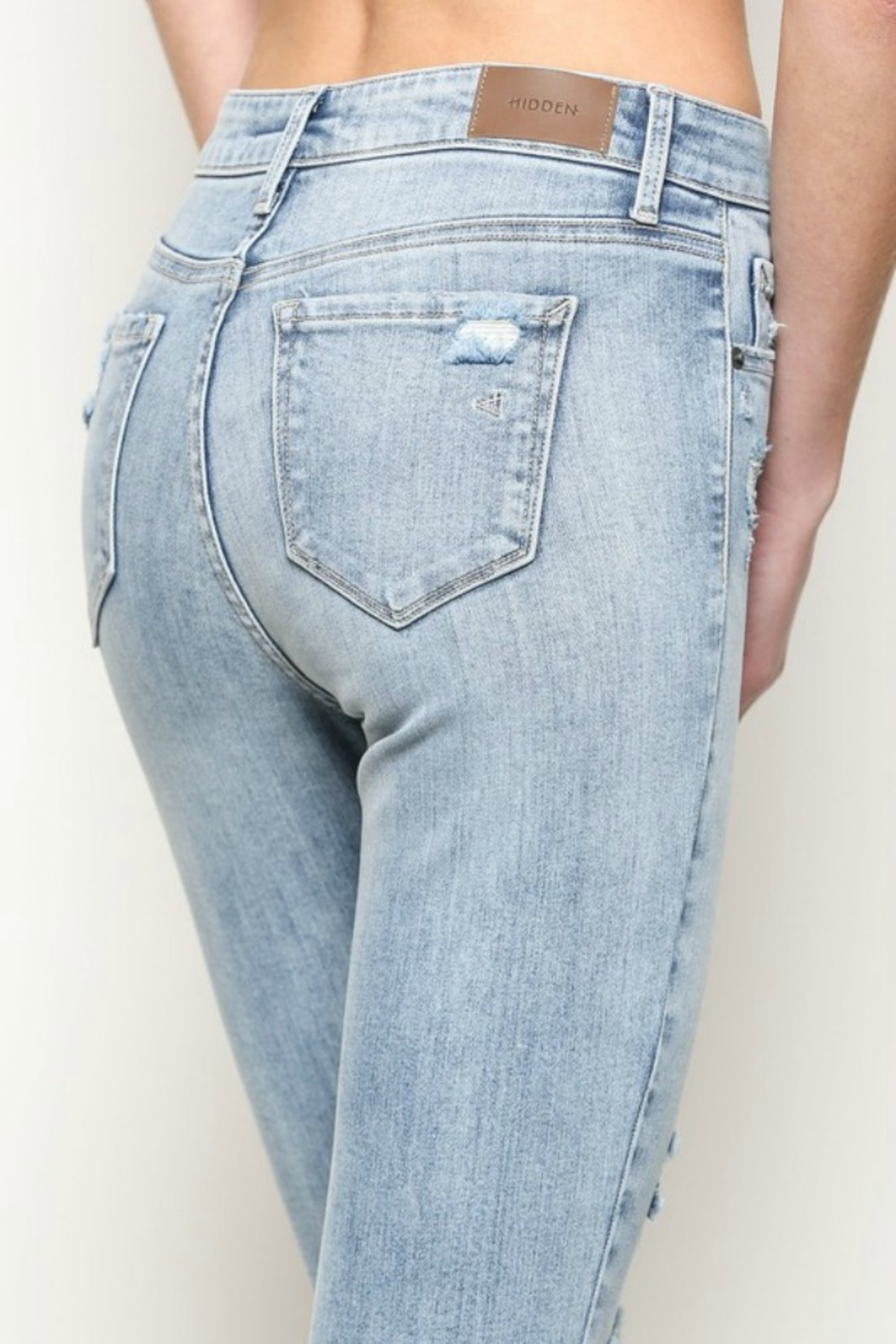 Hidden Jeans Taylor High Rise-Skinny - Side Cropped Image