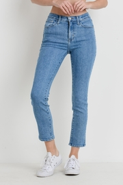 Just Black Denim High Rise Cropped - Front cropped