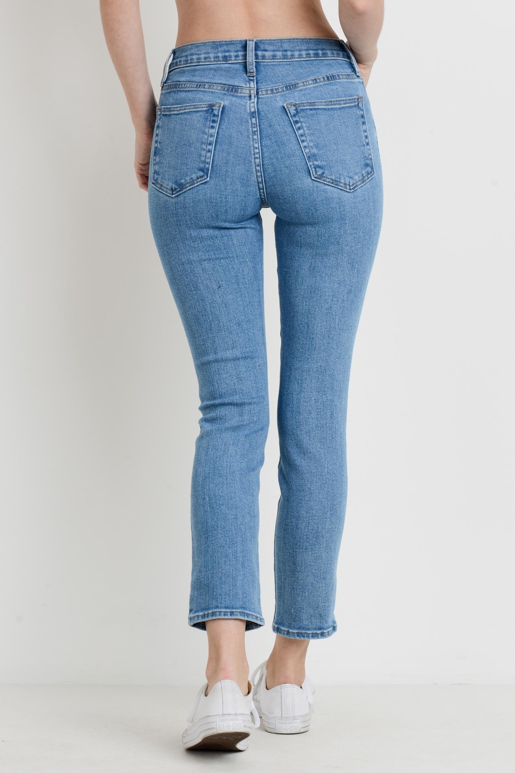 Just Black Denim High Rise Cropped - Front Full Image