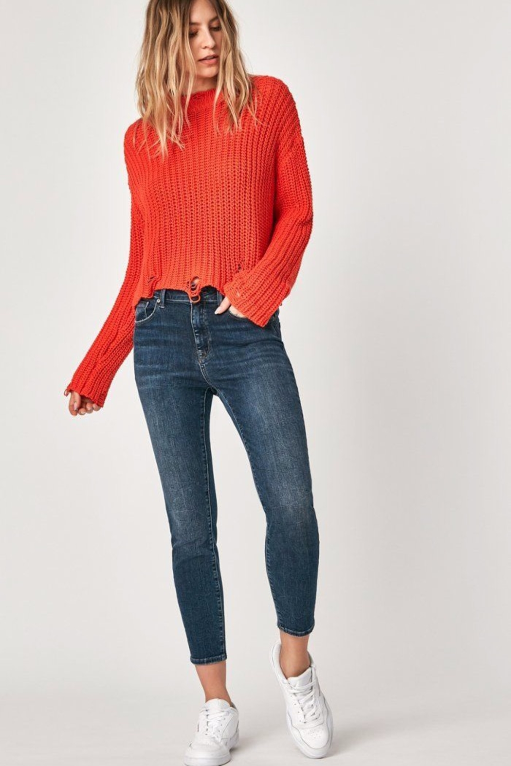 Mavi Jeans High Rise Cropped Jean - Front Cropped Image