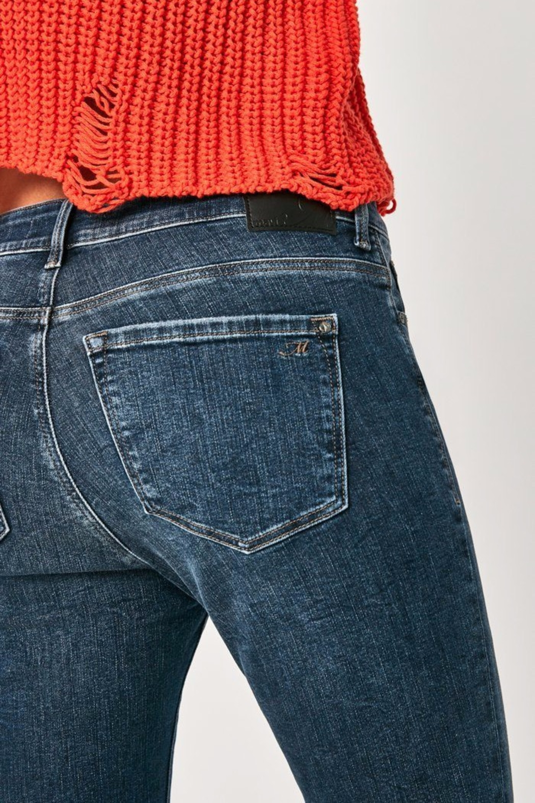 Mavi Jeans High Rise Cropped Jean - Back Cropped Image