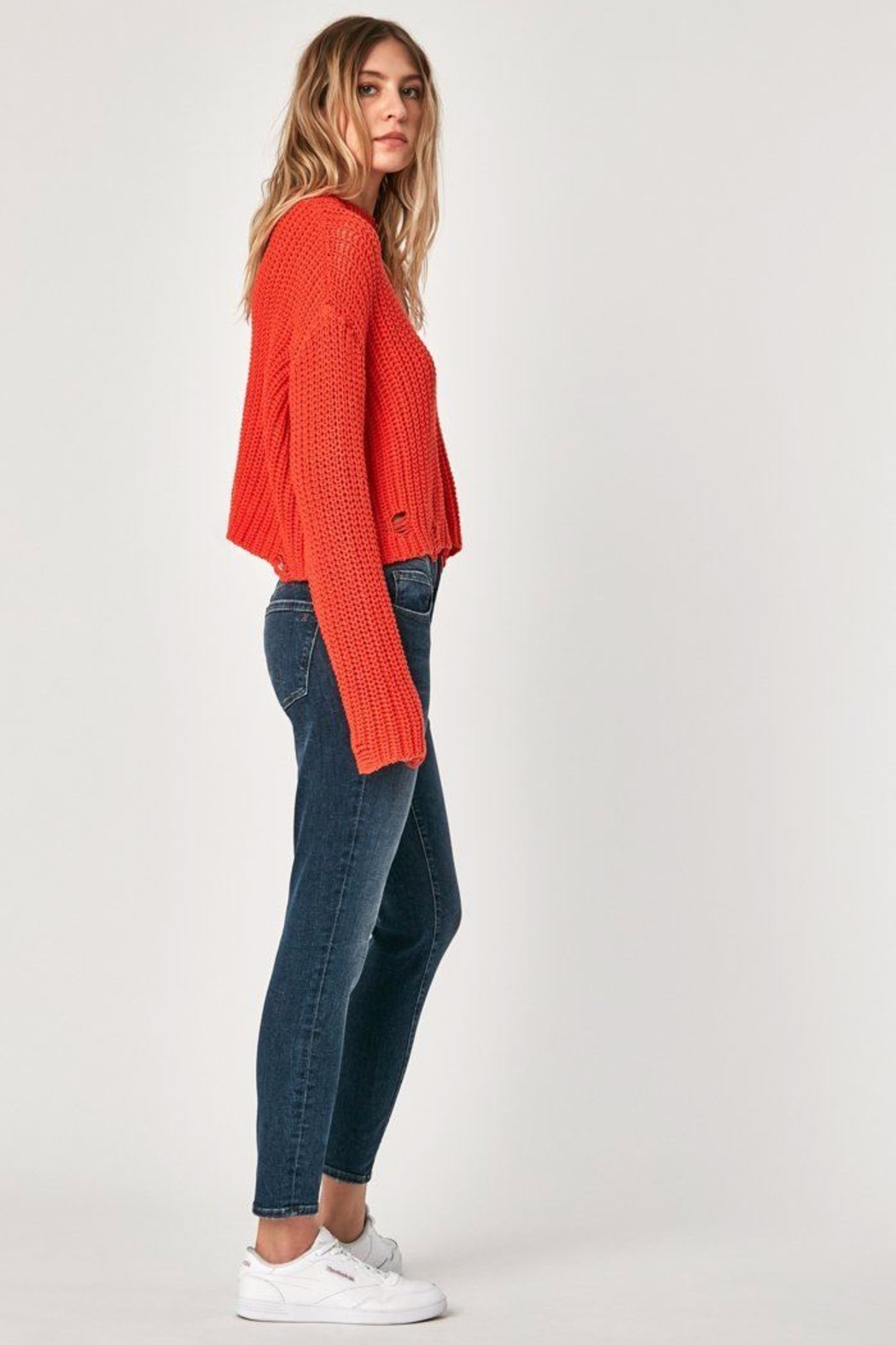 Mavi Jeans High Rise Cropped Jean - Front Full Image