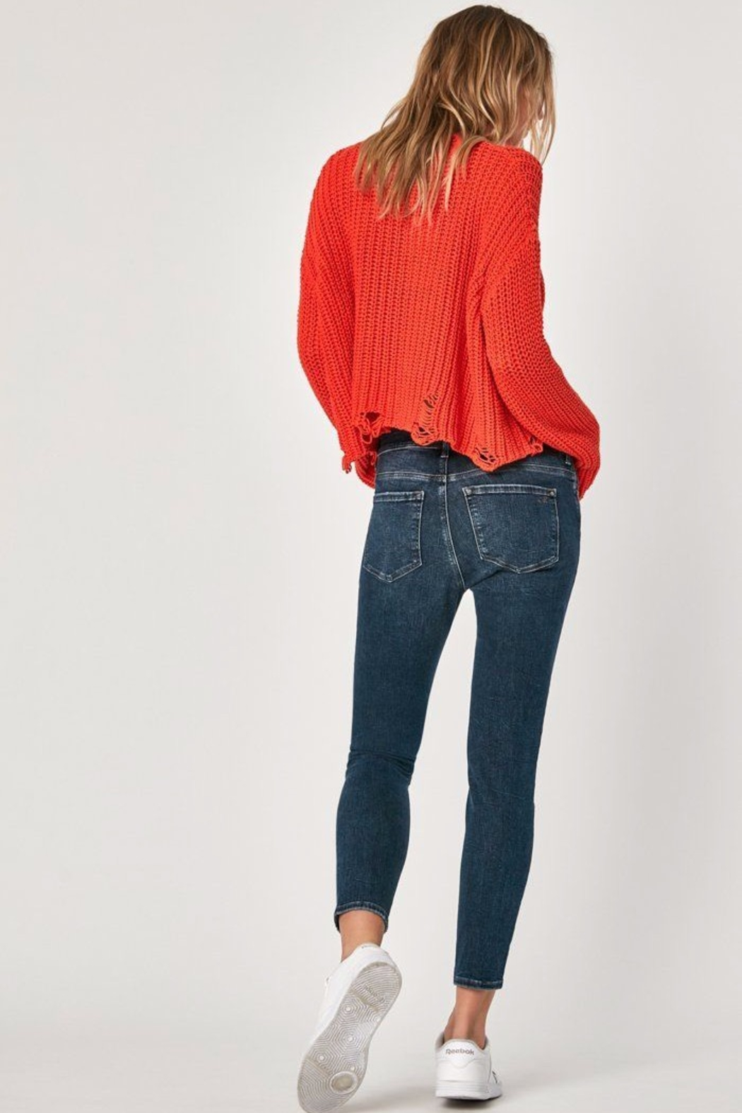 Mavi Jeans High Rise Cropped Jean - Side Cropped Image