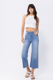 Sneak Peak High Rise Cropped Wide Leg Jeans - Front cropped