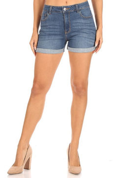 American Fit High Rise Cuffed Denim Short - Product List Image