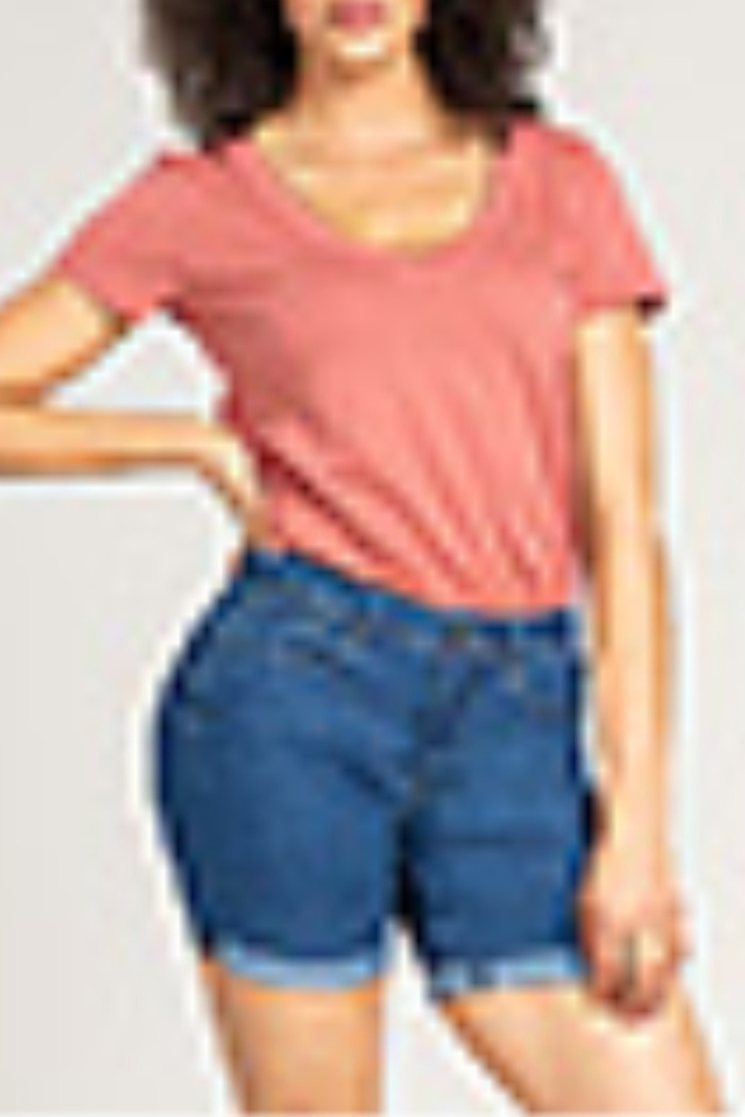 Lyn-Maree's  High Rise Cuffed Shorts - Main Image