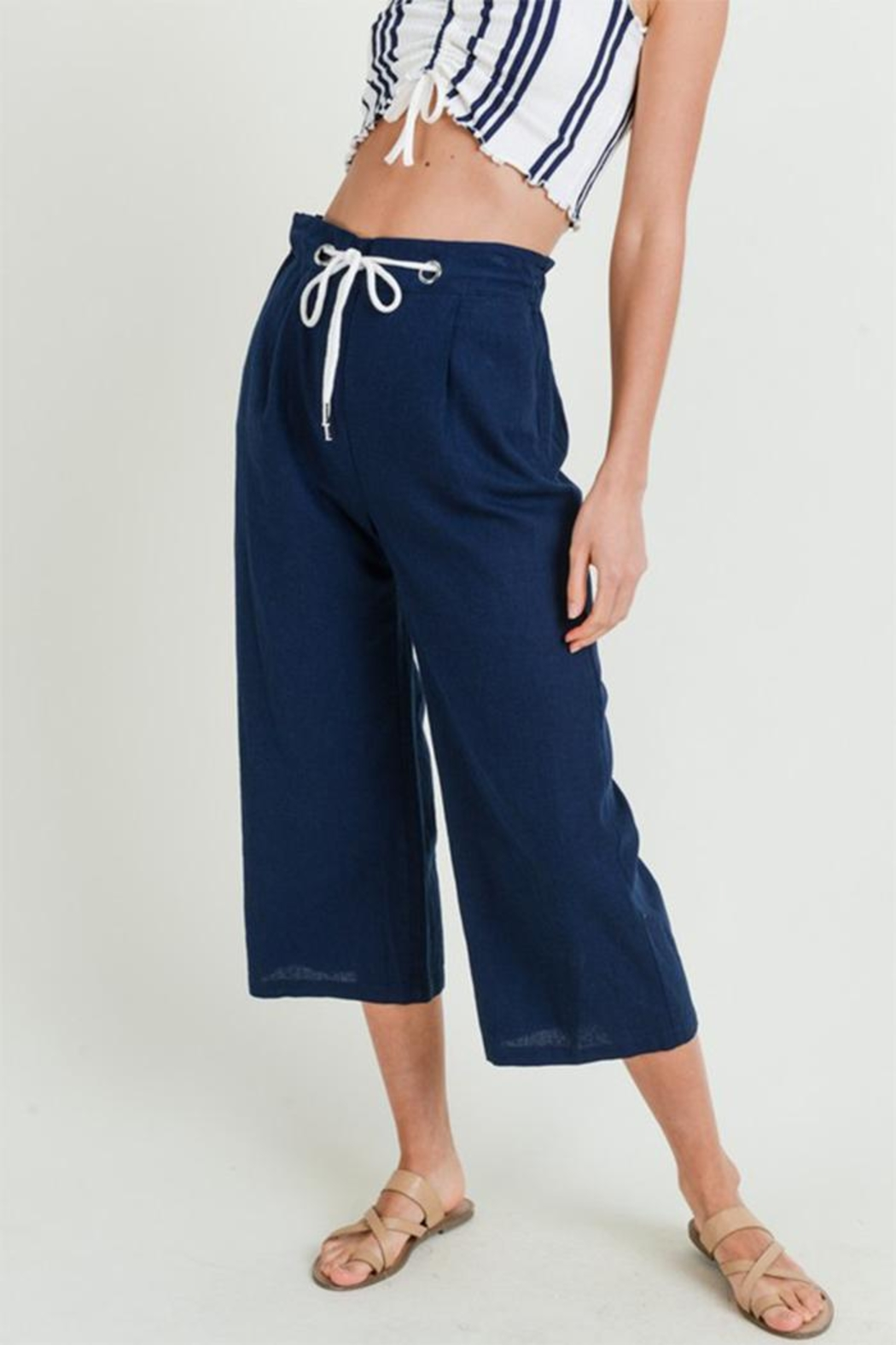 Love Tree High Rise Culottes - Front Cropped Image