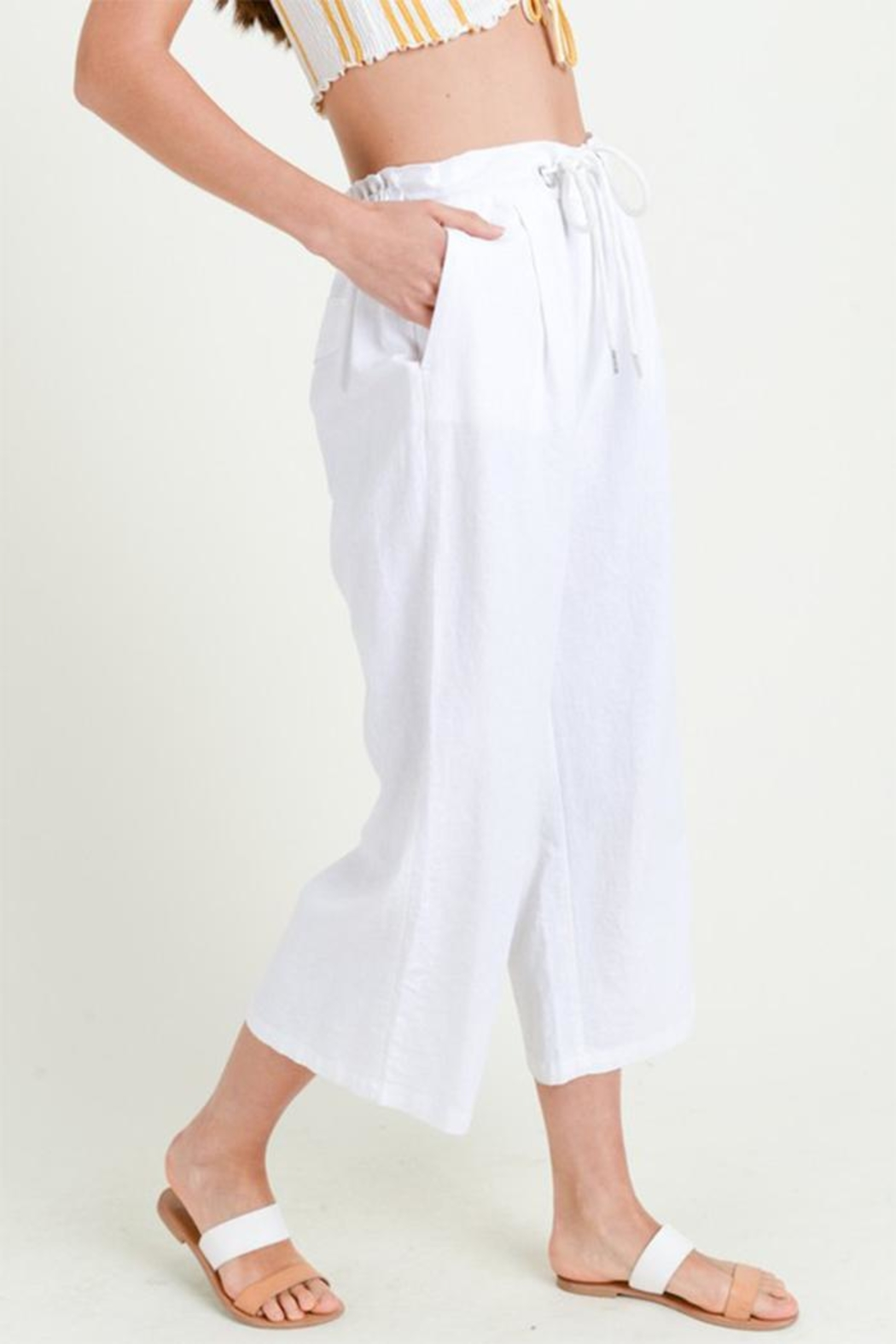 Love Tree High Rise Culottes - Front Full Image