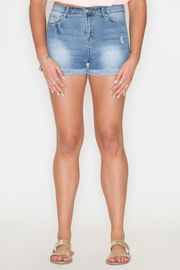 Listicle High-Rise Denim Shorts - Front cropped