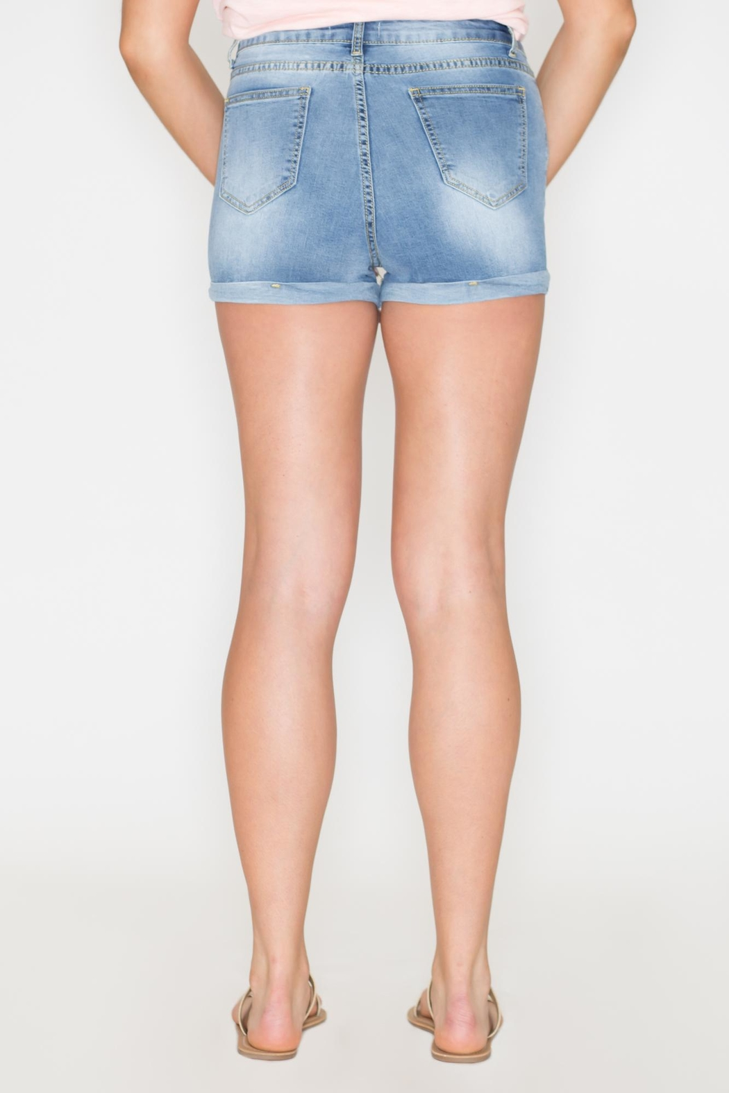 Listicle High-Rise Denim Shorts - Side Cropped Image