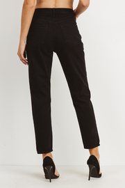 just black High Rise Destroyed Jeans - Side cropped