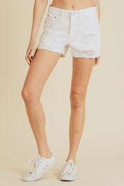 just black High Rise Destroyed Shorts - Product Mini Image