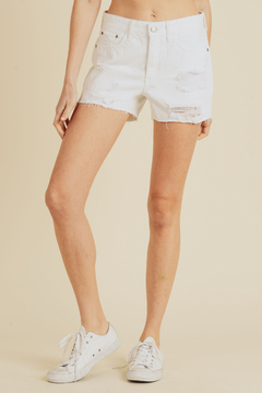 just black High Rise Destroyed Shorts - Product List Image
