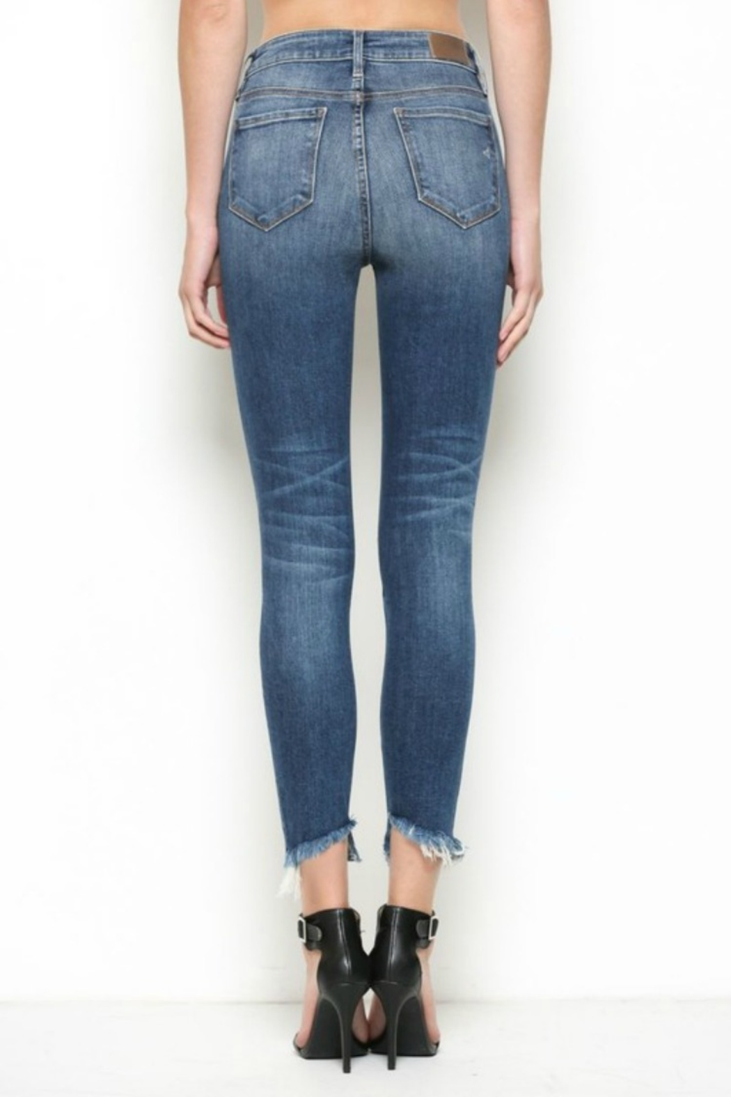 Hidden Jeans High Rise Distress Skinny - Back Cropped Image