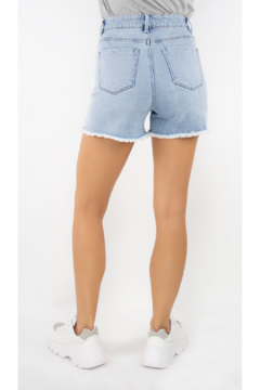 Tractr High Rise Distressed Denim Short - Alternate List Image