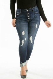 KanCan High-Rise Distressed Jean - Product Mini Image