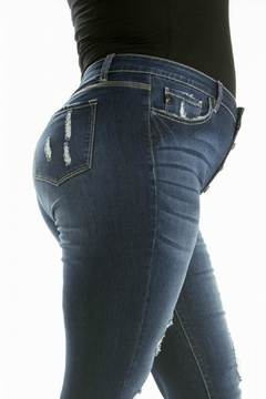 KanCan High-Rise Distressed Jean - Alternate List Image
