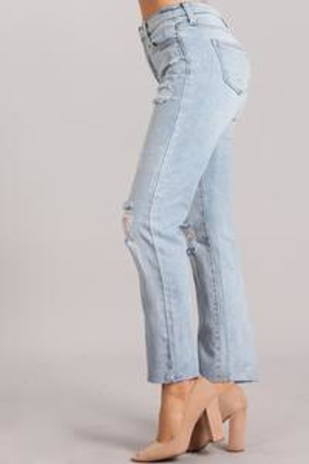 Celebrity Pink  High-Rise Distressed Jeans - Side Cropped Image