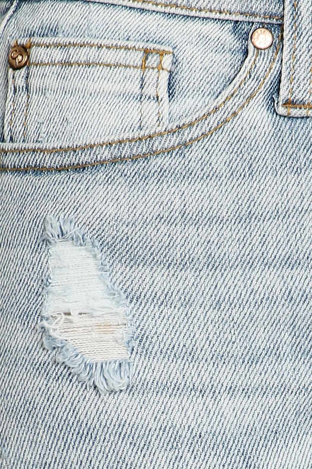 Celebrity Pink  High-Rise Distressed Jeans - Back Cropped Image