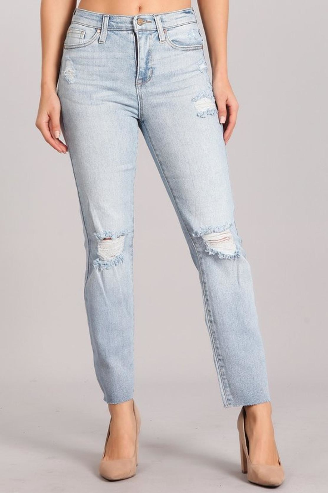 Celebrity Pink  High-Rise Distressed Jeans - Main Image