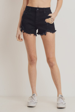 L.T.J High Rise Distressed Shorts - Product List Image