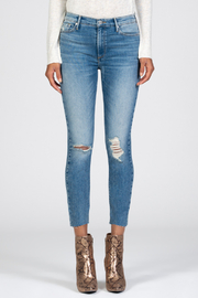 Black Orchid Denim HIGH RISE DISTRESSED SKINNY JEAN - Product Mini Image