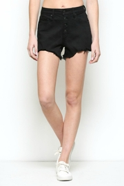 Hidden Jeans High Rise exposed 4 Button Mom Shorts - Product Mini Image