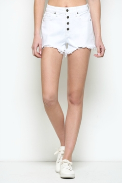 Hidden Jeans High Rise exposed 4 Button Mom Shorts - Product List Image