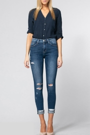 Flying Monkey High-Rise Raw Cuff - Front cropped