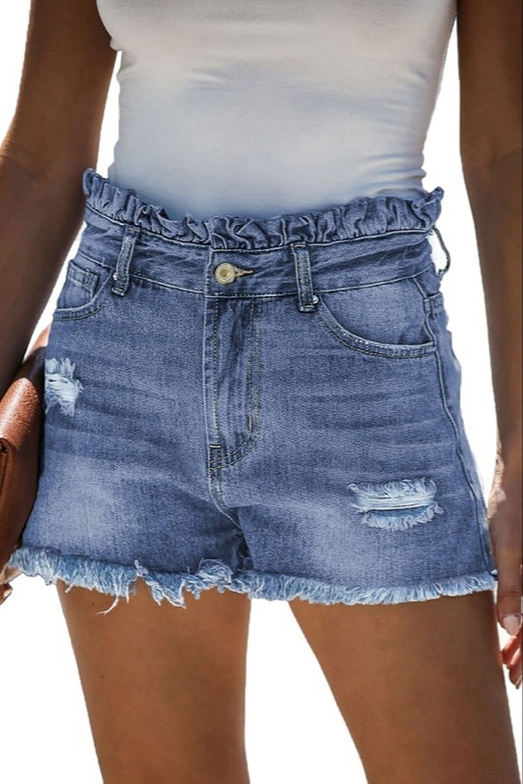 lily clothing High Rise Shorts - Front Cropped Image