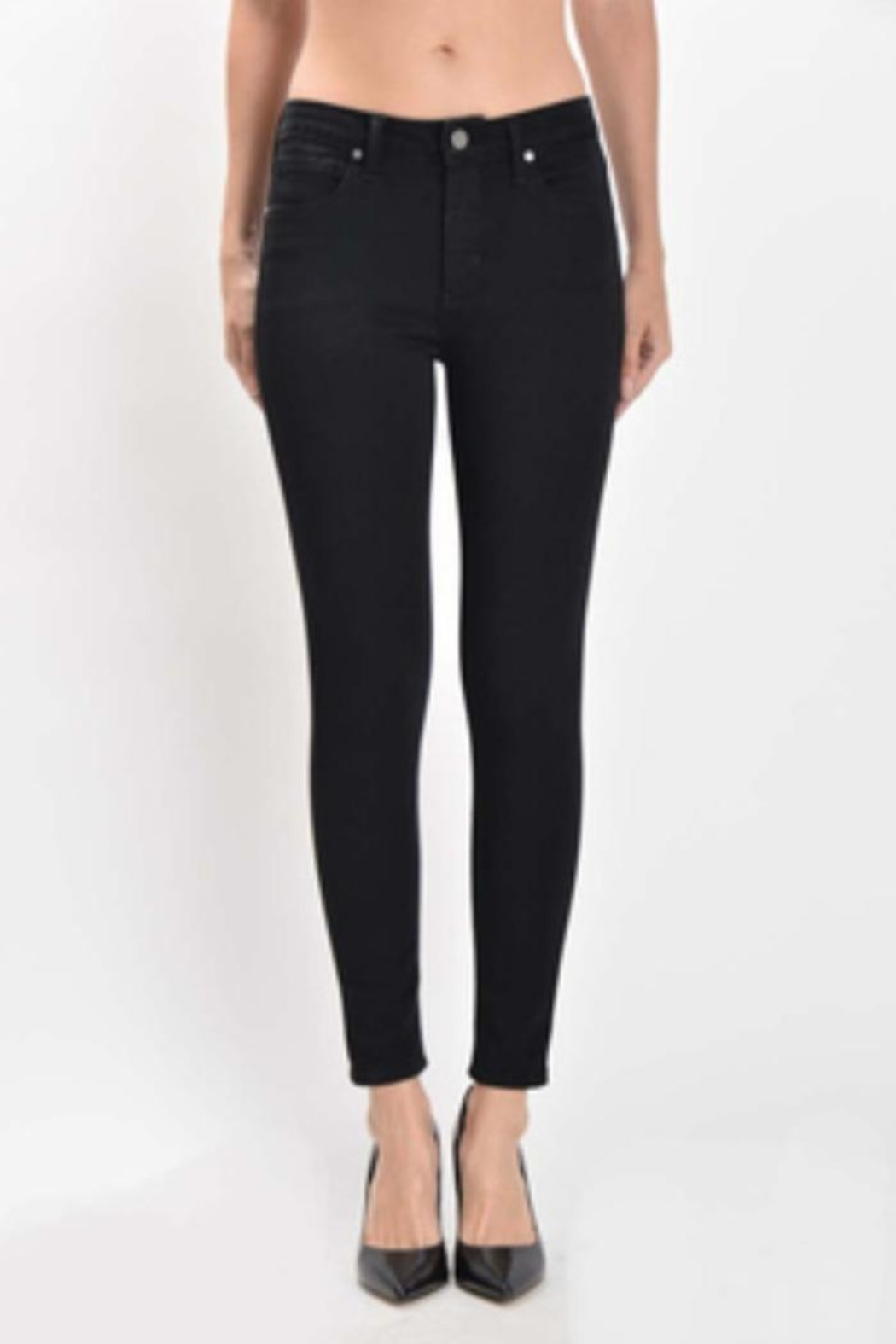 just black High Rise Skinny - Front Cropped Image