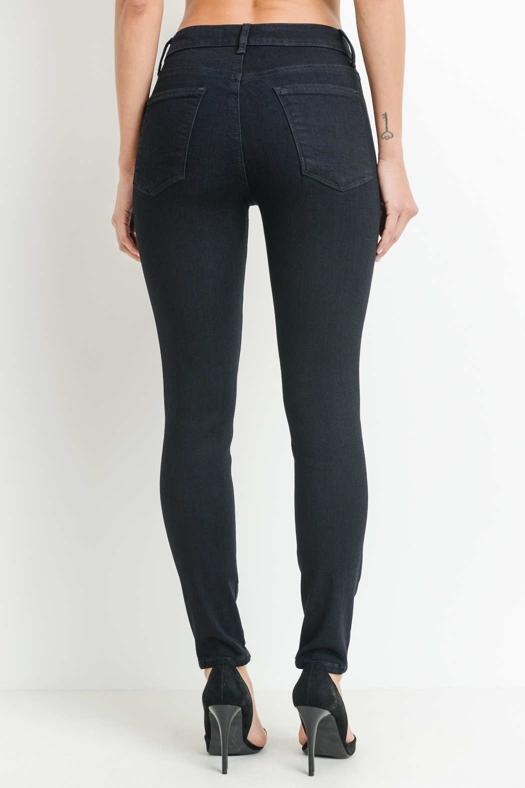 just black High Rise Skinny - Side Cropped Image