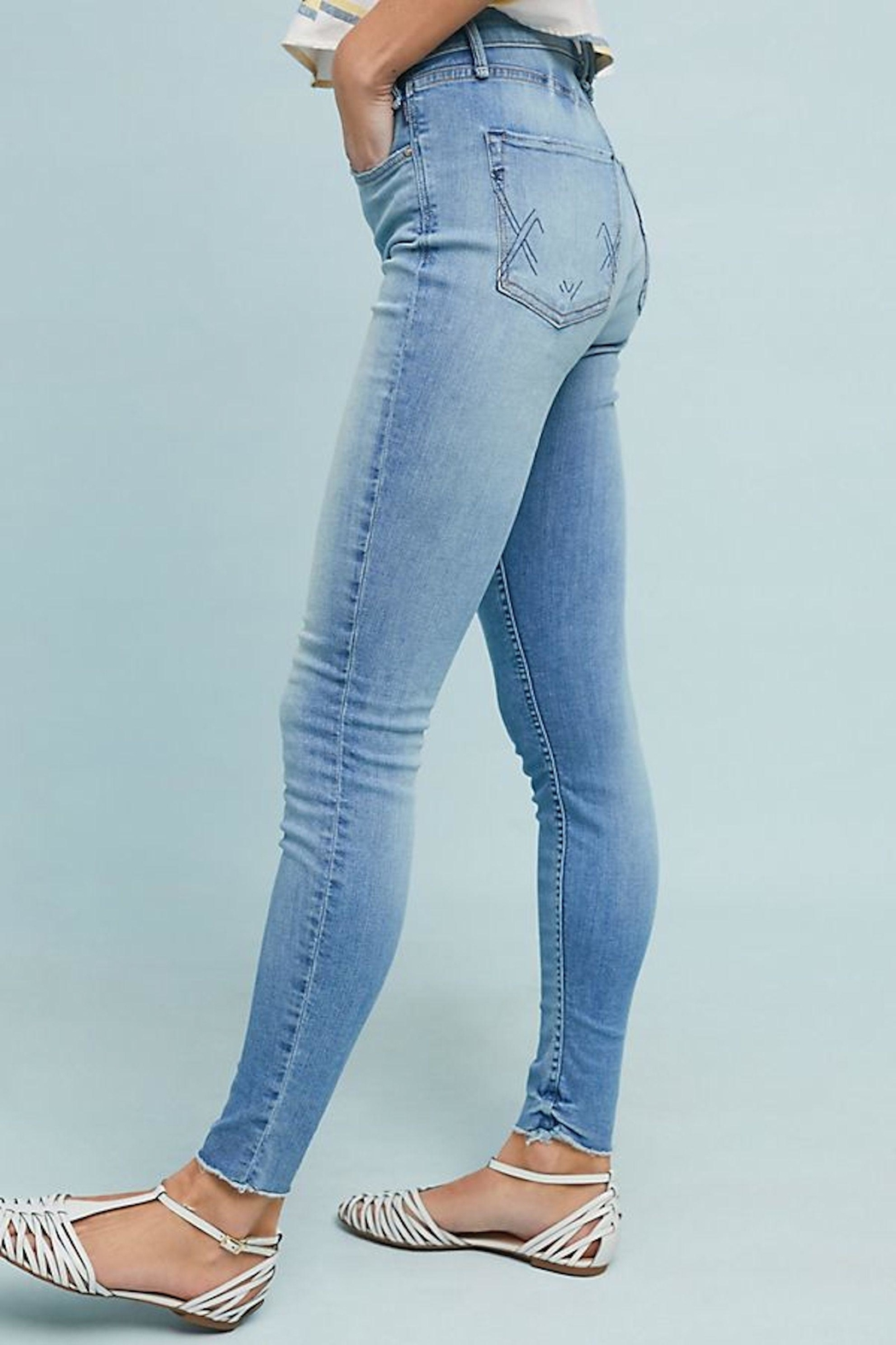 MCGUIRE DENIM High-Rise Skinny Jeans - Back Cropped Image