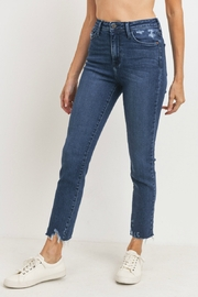 just black High Rise Slim Straight - Front full body